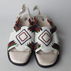 Dr. Scholl's White Leather Huarache Sandals 7.5M